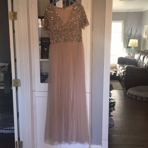 Maya V-neck Maxi Tulle Dress w sequins from ASOS